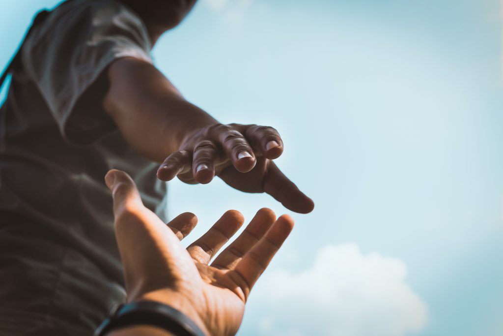 een helpende hand